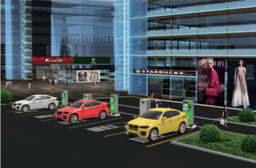 <b>商业楼宇多媒体充电桩充电解决方案</b>